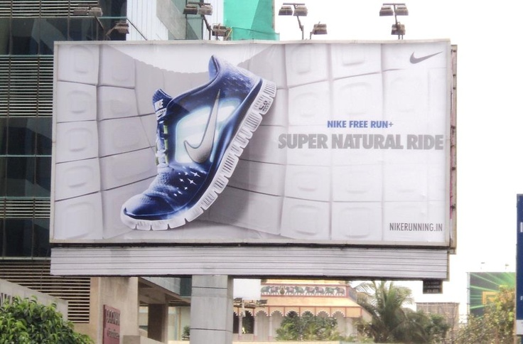Billboard campaign designed for Nike to show the ...