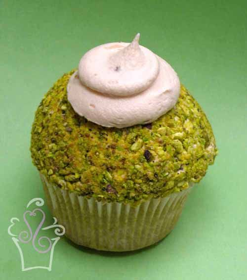 Pistachio Cupcakes With Pink Champagne Frosting Recipe — Dishmaps