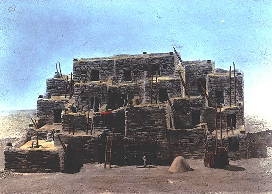 Hopi pueblo fairytale architecture pinterest for Pueblo home builders