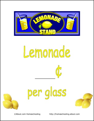 printable Lemonade sign | Inspiration - 33.7KB