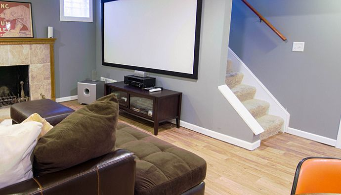 basement area for kids  Can Hardwood Flooring Ever Be Used in a ...