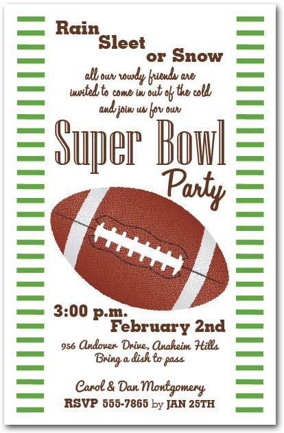 Super Bowl Party Invitation Super Bowl Party Pinterest