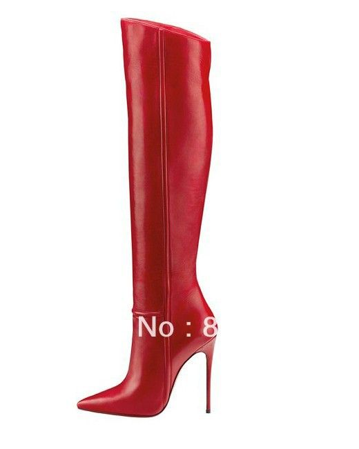 Newest Style Women Red Bottom Shoes Women's Boots Brand Cowskin