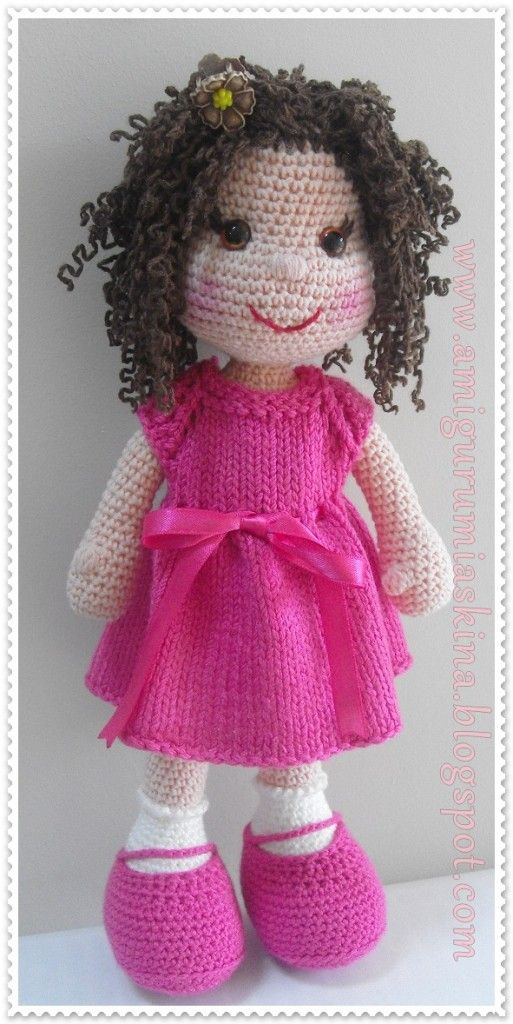 Crochet Doll : unbelievably cute amigurumi doll Amigurumi Crochet Pinterest