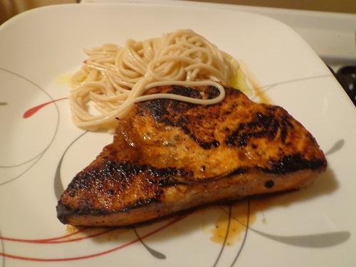 ... swordfish steak I'll eat tomorrow for lunch. Blackened swordfish