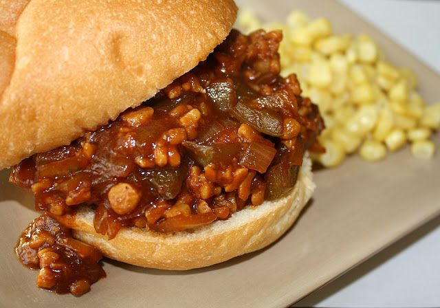 BBQ Tempeh Sloppy Joes - a healthy, 5 ingredient remake! meat free