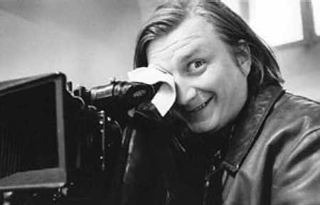 Aki Kaurismäki, with a rare smile.