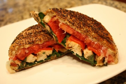 Roasted Red Pepper and Chicken Panini | The Earl of Sandwich | Pinter ...