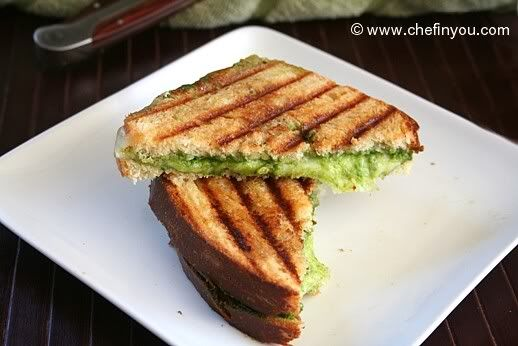 Spinach Pesto Grilled Sandwiches Recipe | Spinach Pesto Recipe. On GF ...