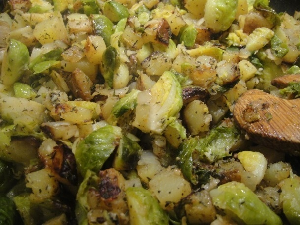 brussels sprout potato hash | Food | Pinterest