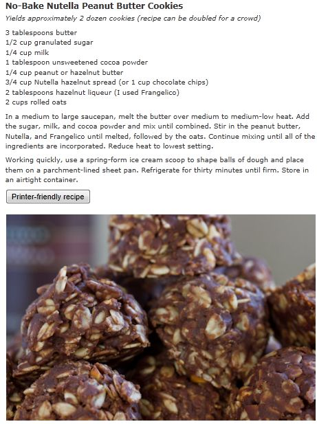 No Bake Nutella Peanutbutter Cookies (recipe,no bake,delicious ...