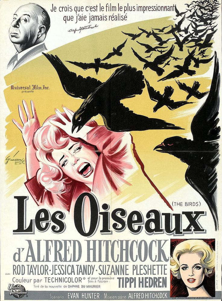 Alfred hitchcock the birds movie poster
