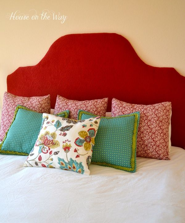 DIY Fabric Covered Headboard via @Allison j.d.m House! on the Way