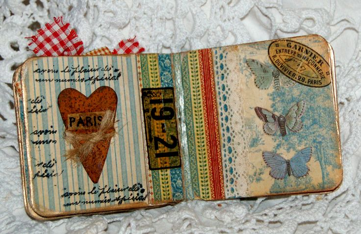 Mini Beer Mat Album using Graphic 45 French Country papers by Zuzu for