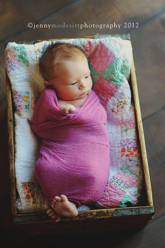 newborn photography ideas-  Cheesecloth