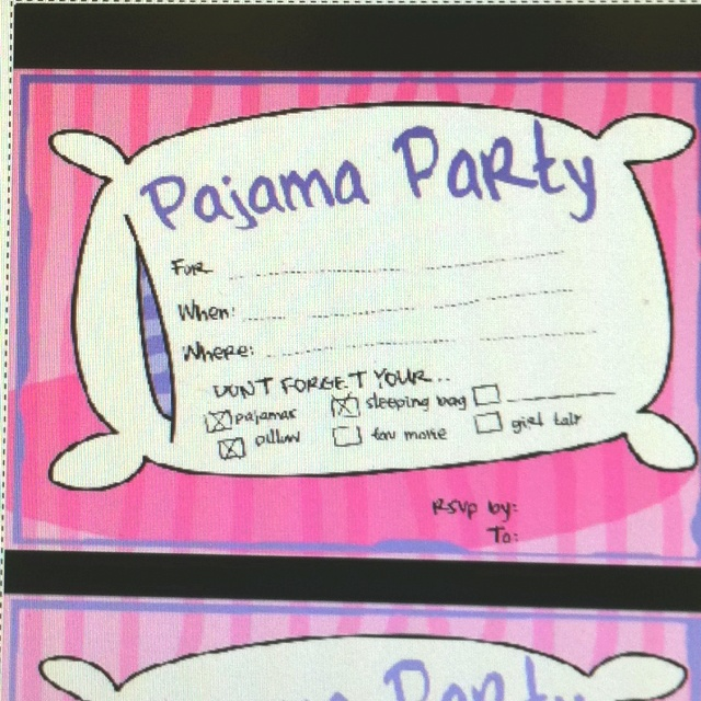 Invitations For Sleepover with best invitation example