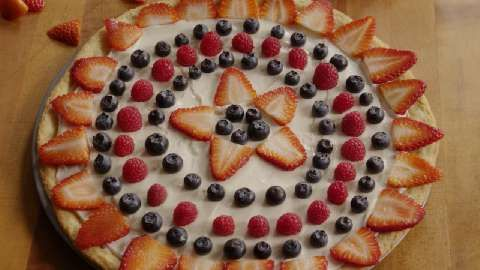 all over this for the 4th. Booh Yah. Fruit Pizza I Allrecipes.com