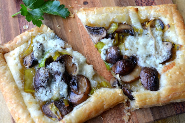 Leek, Mushroom and Gorgonzola Tarts | Starters | Pinterest