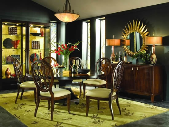 bob mackie home signature 72 round dining room furniture set in
