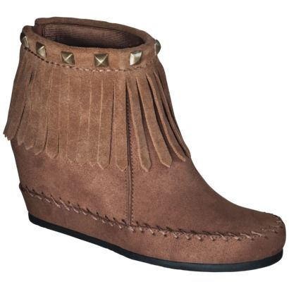 Karen Moccasin Wedge Boot - Cognac