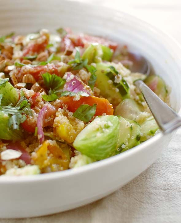 Quinoa And Cucumber Salad Recipe — Dishmaps