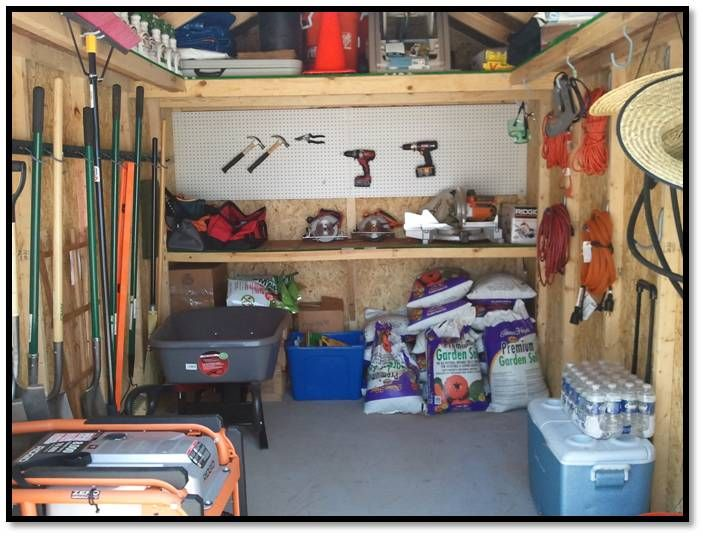 Storage shed organization plans shed plan easy for Garden shed organization ideas