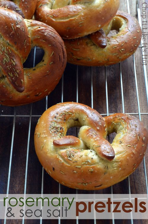 Rosemary and sea salt pretzels | Posh Baps | Pinterest