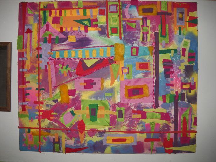 Collage con telas artesan as pinterest - Artesanias con telas ...