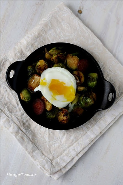 Brussel Sprouts with Chorizo & Red Onion (and optional poached egg ...