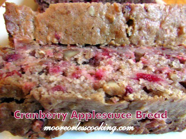 CRANBERRY APPLESAUCE BREAD | Bread | Pinterest