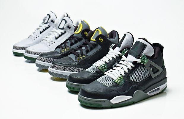 "Air Jordan III & IV ""Oregon Ducks Collection"""