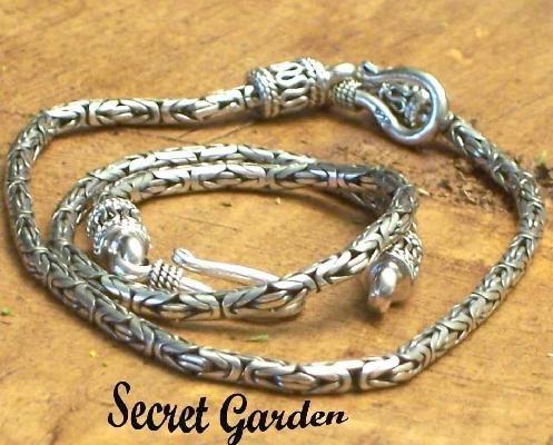 Bali Sterling Silver Byzantine Bracelet 3mm from www.secretgardengems.net