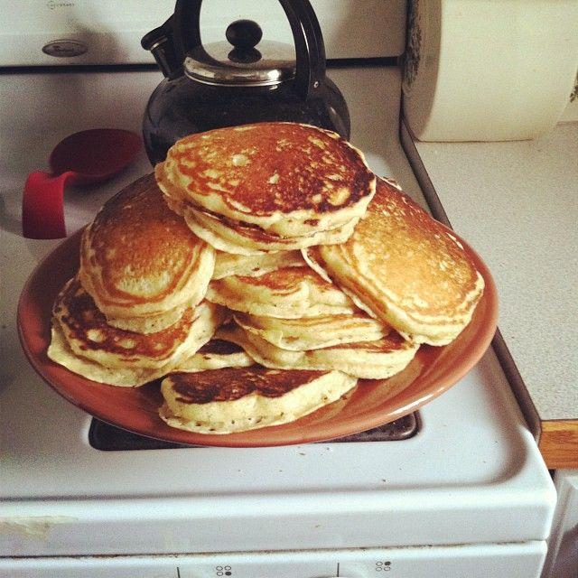 Lofty buttermilk pancakes from @Megan Ward Stilley