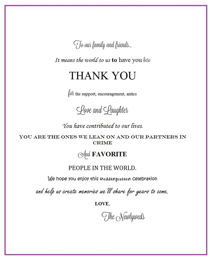 Thank You Letter For Wedding Gift Bags : Pin by Jackie Schoener Massanova on Education Pinterest