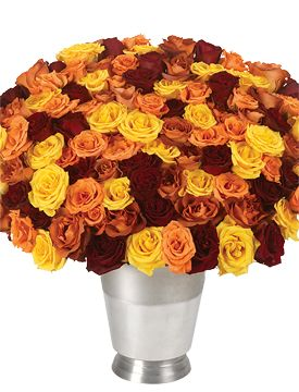 100 Autumn Roses & Wine Chiller - starting at $219.95 #roses #autumn ...