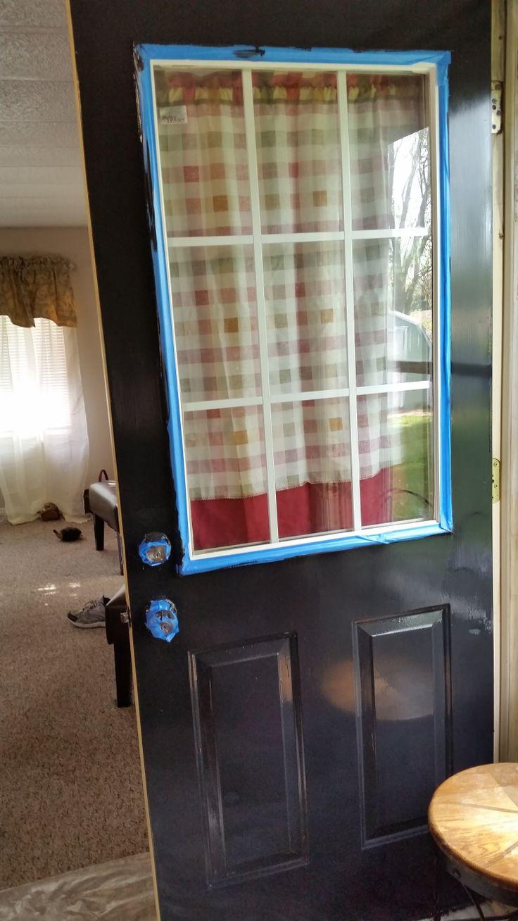 NEW PAINT ON FRONT DOOR OF MOBILE HOME FLIP UPDATE MOBILE HOME 2