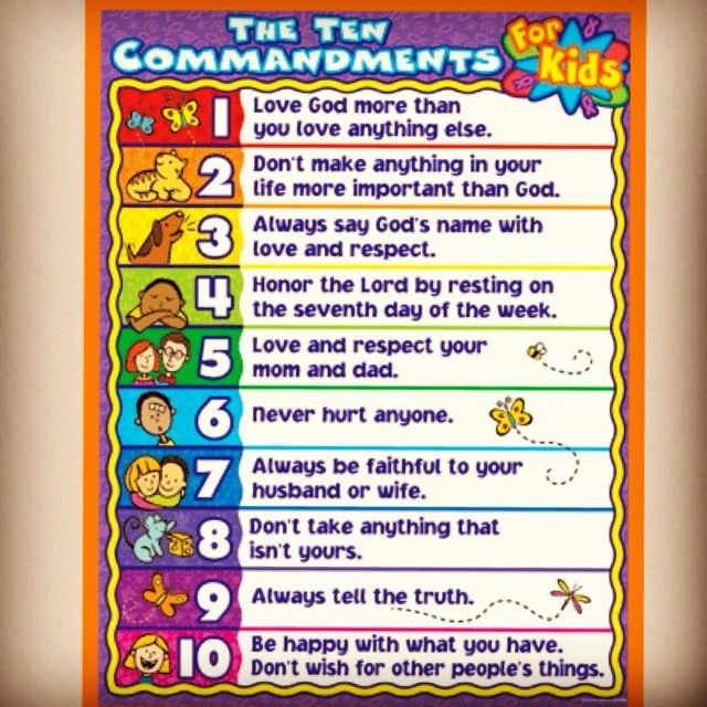 home images the 10 commandments for kids the 10 commandments for kids ...