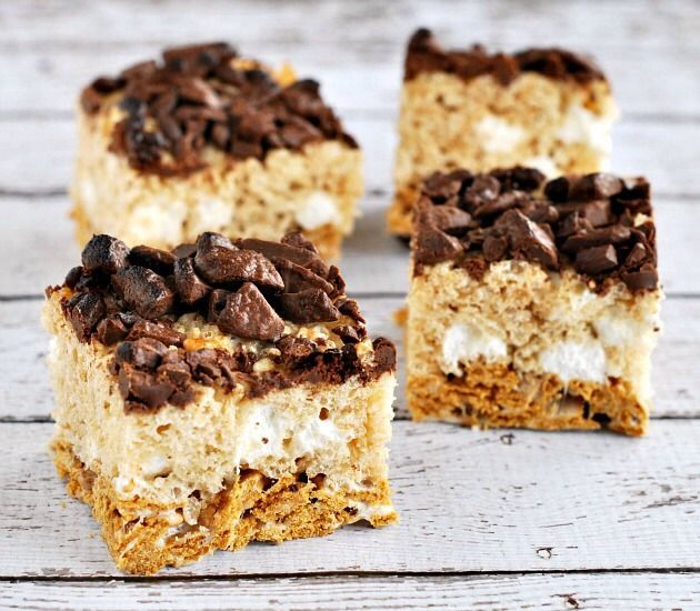 MORES Rice Krispies Treats Recipe | Foodie Stuff | Pinterest