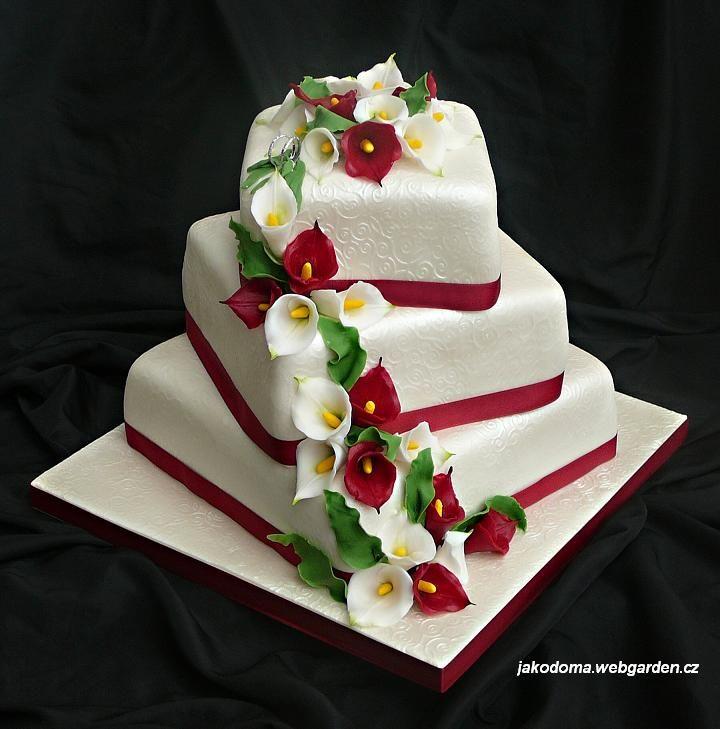 Lily Rose Cake Design : Calla Lily Wedding Cake Wedding cakes Pinterest
