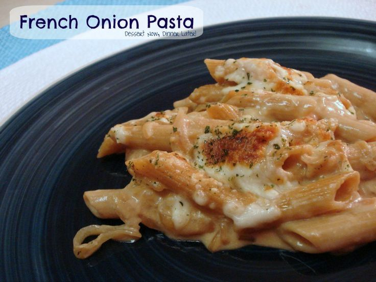 French onion pasta recipe for Amber cuisine moffat