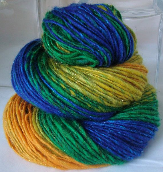 SOMEWHERE... Handspun Yarn by DeepSeaFibers on Etsy, $61.00