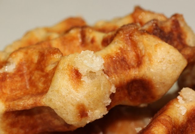 Belgian sugar waffle, a bit less time than the other recipe (but ...