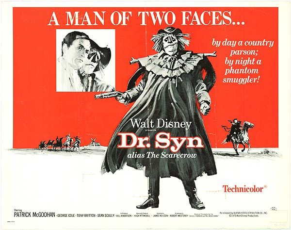 Dr. Syn, Alias The Scarecrow. Memorable Disney action movie from the 60's