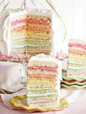 Gorgeous pastel layer cake | Shades of Pale | Pinterest