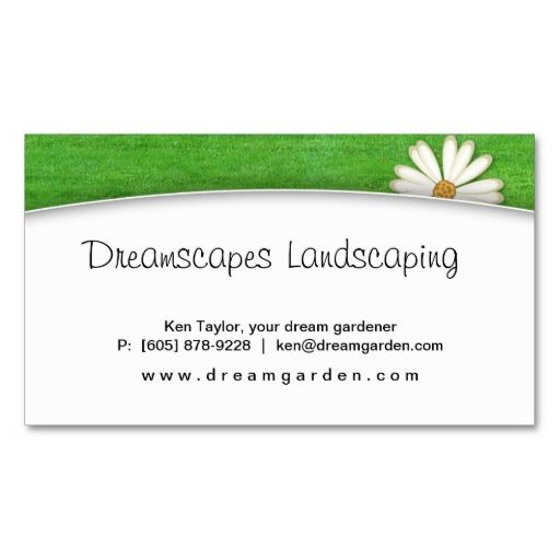 Landscaping Lawn Care Daisy Business Card