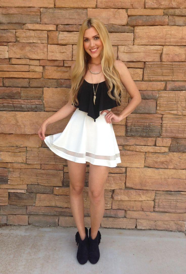 White Skater Skirt #mesh