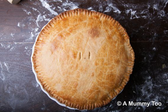 Cornmeal pastry cheesy lentil pie - a mummy too. Double crust cornmeal ...
