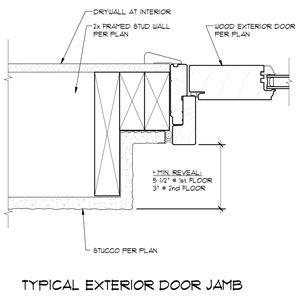 Exterior Door Jamb Detail 2012 08 Private Residence Pinterest