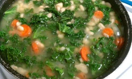 Noodle Soup With Kale And White Beans Recipes — Dishmaps