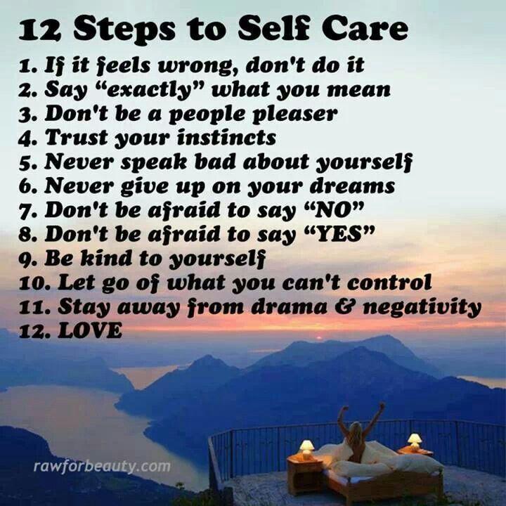 12 Steps to self care ...